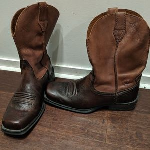 Ariat leather cowboy boots leather brown 8.5